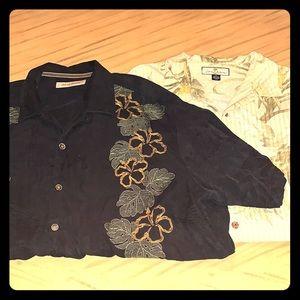 2 TOMMY BAHAMA Shirts 🌴🌴